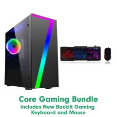 Stone Core Gaming PC Bundle - With Gaming Keyboard and Mouse