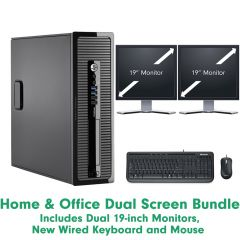 Home & Office Dual Screen Bundle Intel Core i3 - Windows 10