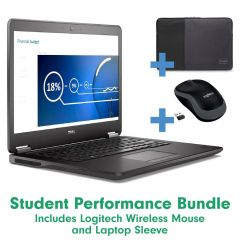 Student Laptop Performance Bundle - With Free Sleeve and Wireless Mouse