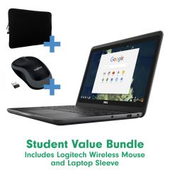 Student Laptop Value Bundle - With Free Sleeve and Wireless Mouse